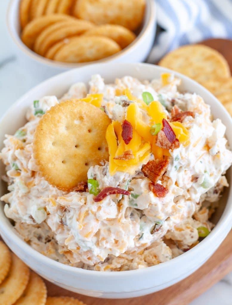 Dip with Ritz cracker in it