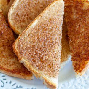 Cinnamon toast on plate