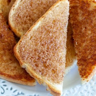 Cinnamon toast on plate
