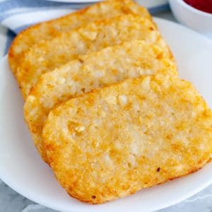 hash brown patties on a plate