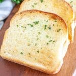 Slices of toast on plate.