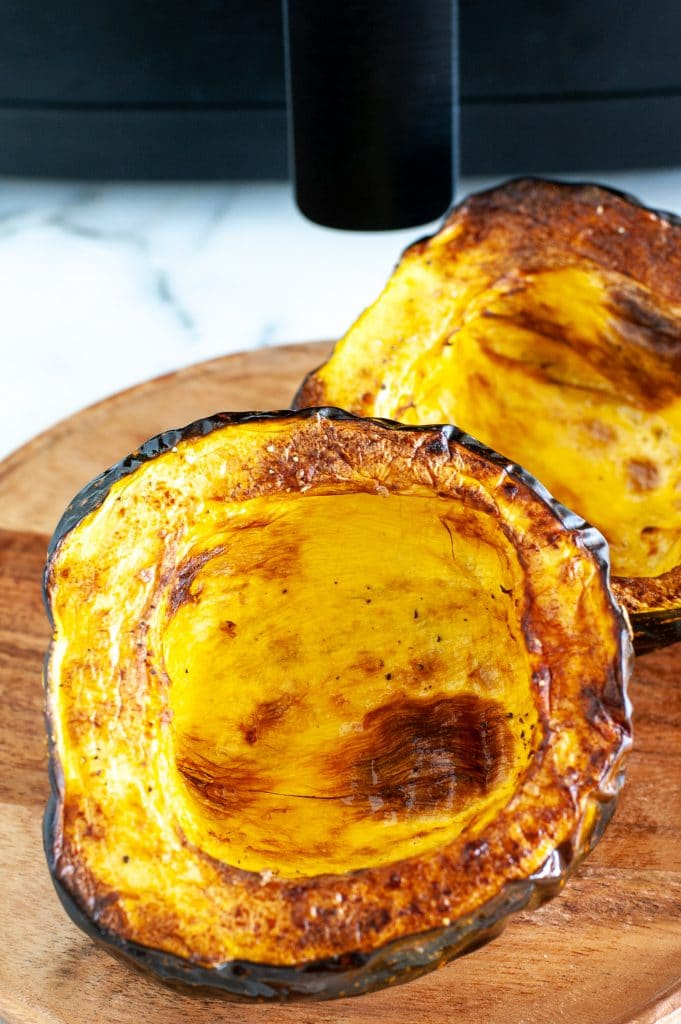 Roasted acorn squash on a plate