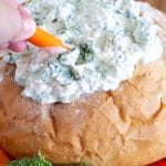 spinach dip with carrot