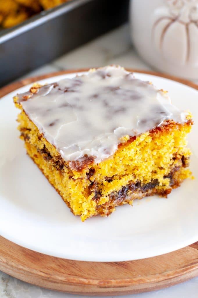 Coffee cake on a plate