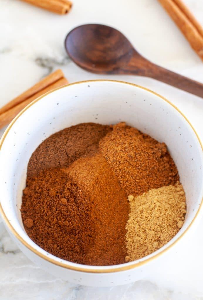 pumpkin pie spices in a bowl