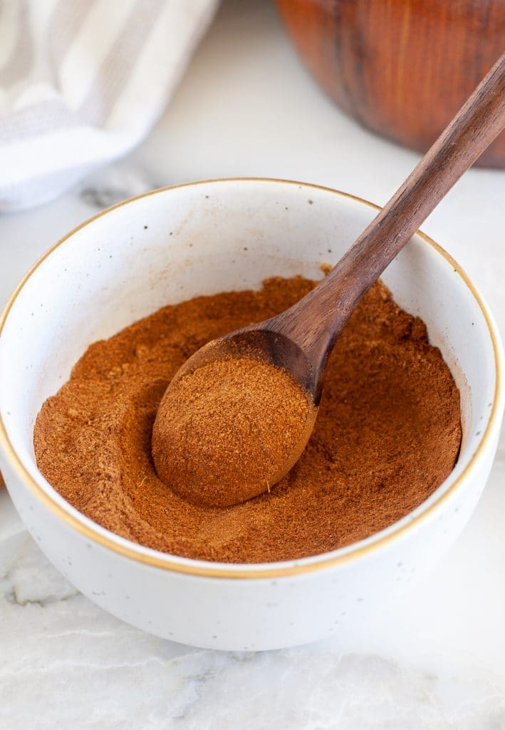Spices in a bowl with a spoon