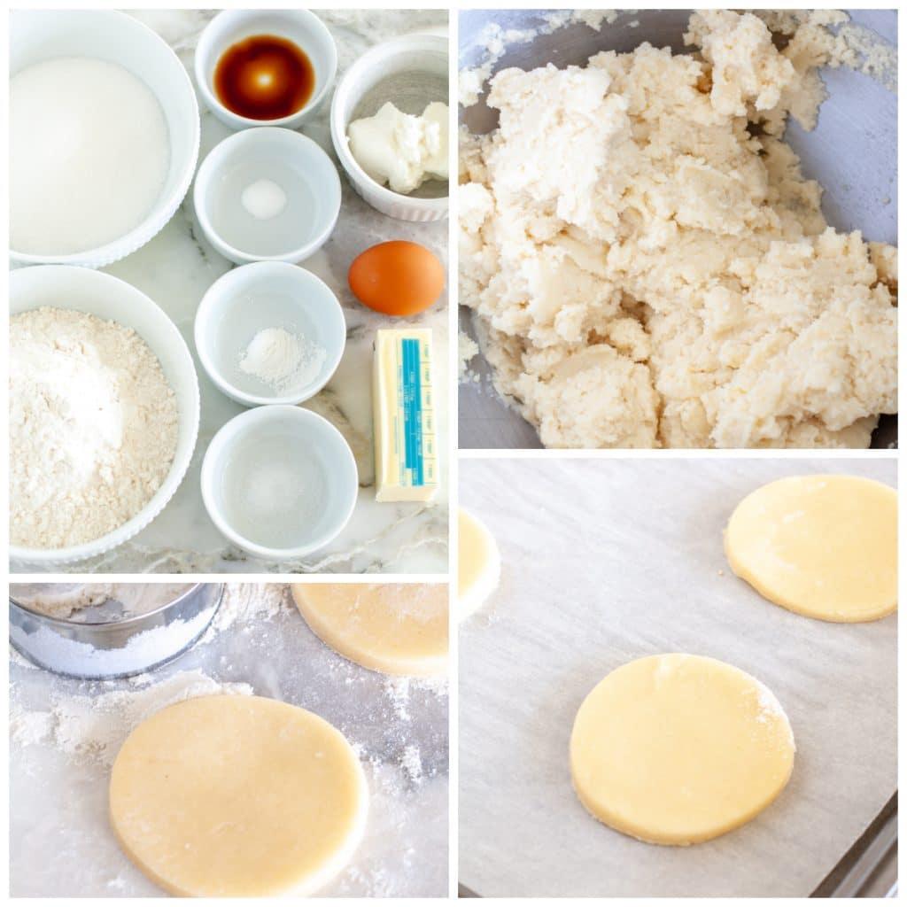 Cookie dough cut into circles