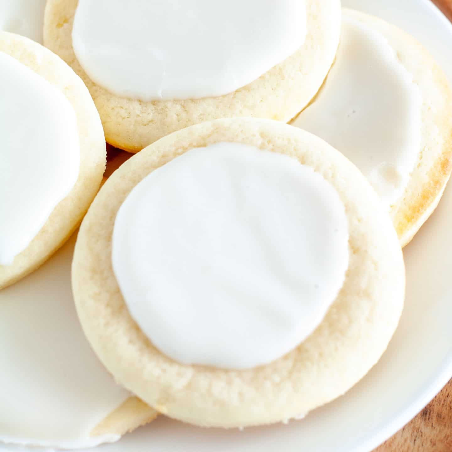 Cookies with frosting on a plate