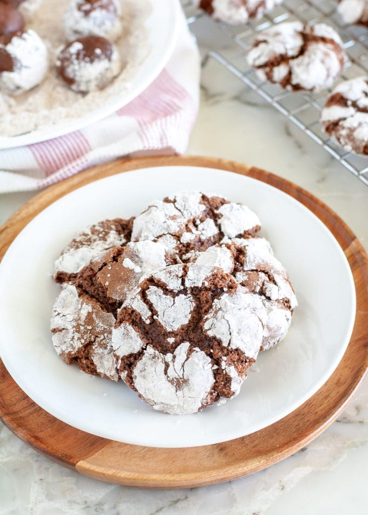 Chocolate cookies on a plate