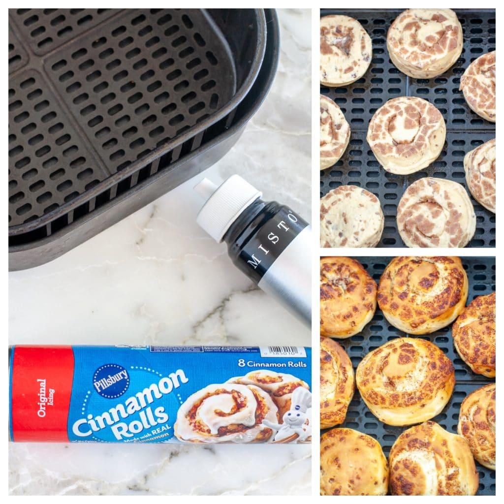 Pillsbury cinnamon rolls in air fryer