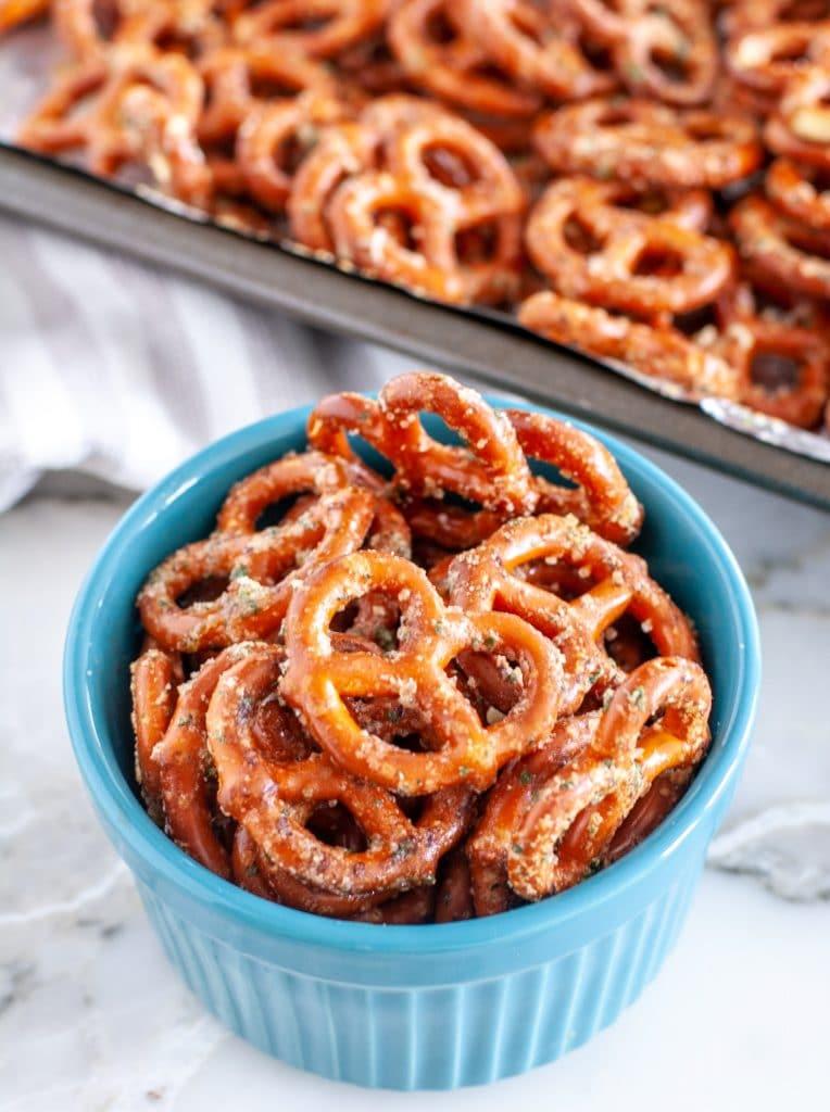 Pretzels in a bowl
