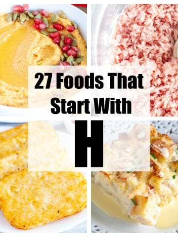 Ham, hash browns, hummus, eggs benedict