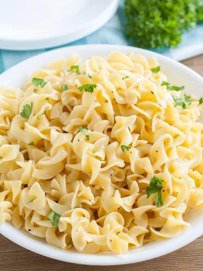 Bowl of noodles.