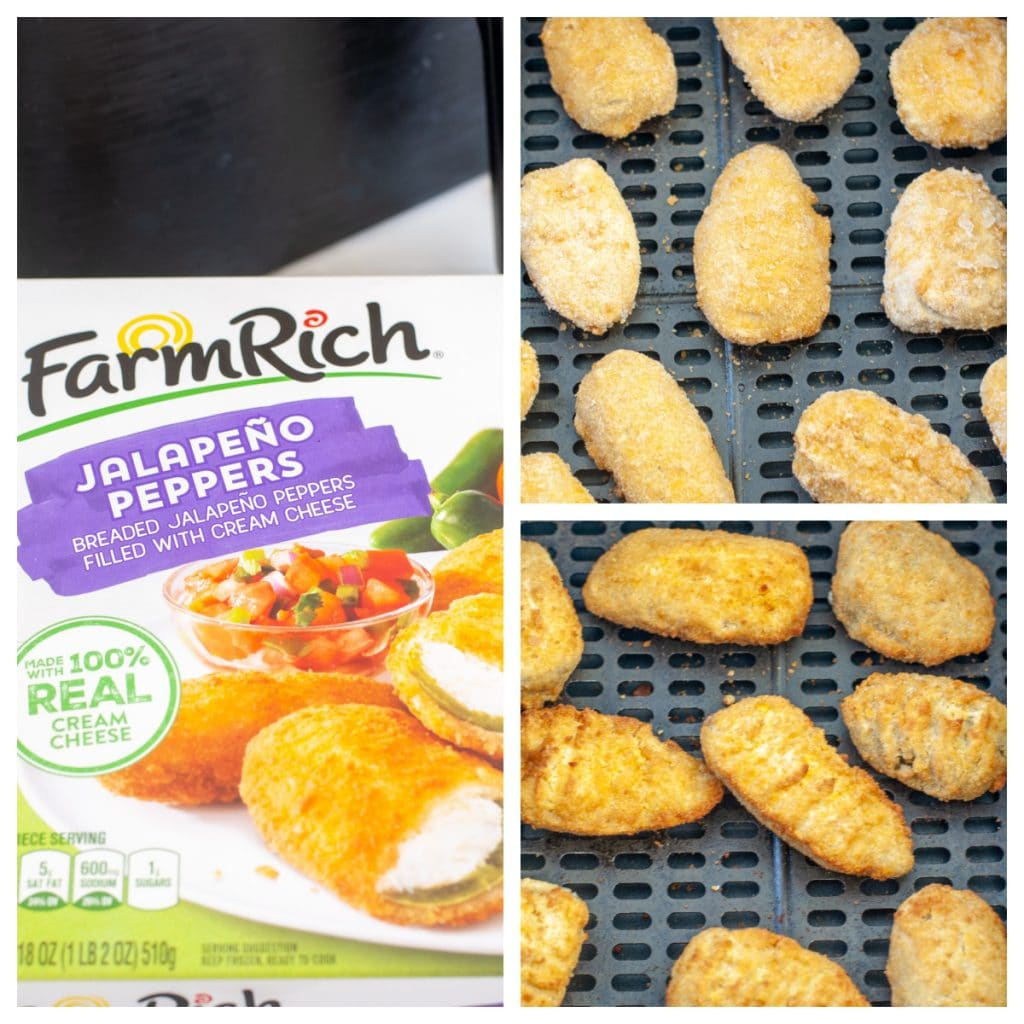 Box of frozen jalapeno poppers.