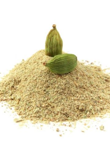 Ground cardamom in a pile.