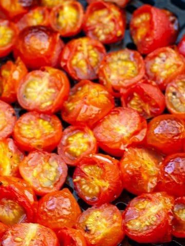 Tomatoes in air fryer.