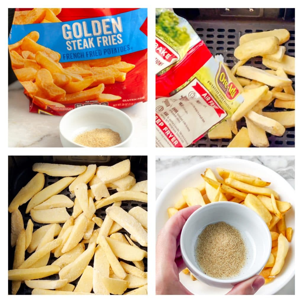 Bag of frozen french fries.