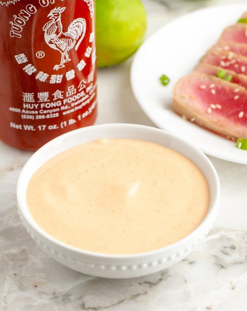 Bowl of creamy sauce.